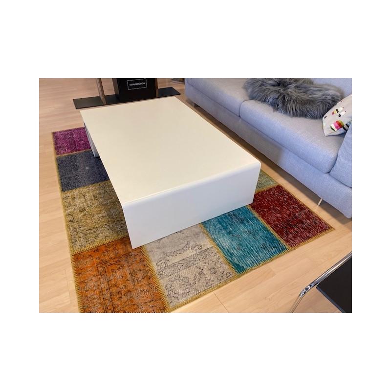 Table basse rectangle métal